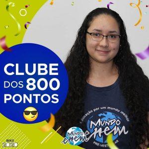 Parabéns Bruna, 840 pontos na redação do ENEM📝!