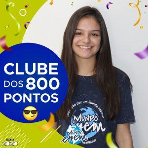 Parabéns Emily, 860 pontos na redação do ENEM📝!