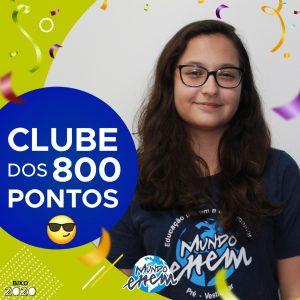 Parabéns Gabriela, 860 pontos na redação do ENEM📝!