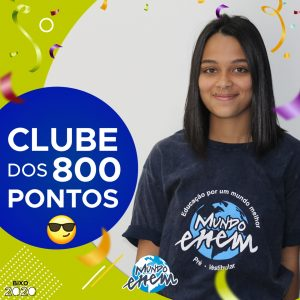Parabéns Gabriela, 880 pontos na redação do #ENEM📝!