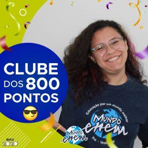 Parabéns Giovana, 900 pontos na redação do ENEM📝!