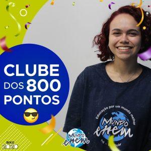 Parabéns Iara, 920 pontos na redação do ENEM📝!