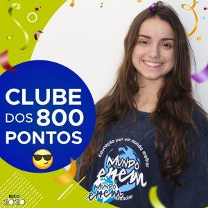 Parabéns Juliane, 840 pontos na redação do ENEM📝!