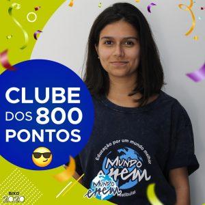 Parabéns Karen, 800 pontos na redação do ENEM📝!