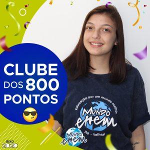Parabéns Karina, 880 pontos na redação do ENEM📝!