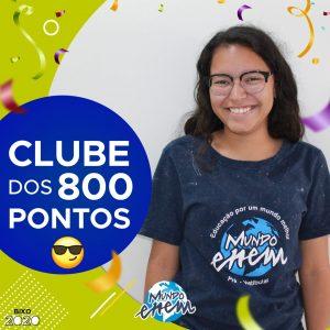 Parabéns Ketilin, 800 pontos na redação do ENEM📝!