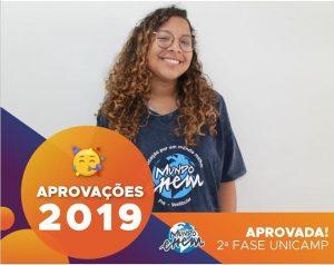🏆Parabéns🏆 Larissa aprovada para a 2ª fase da Unicamp.