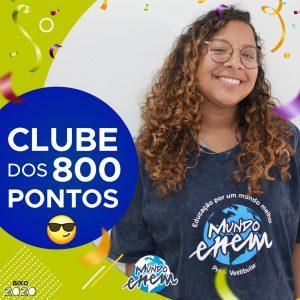Parabéns Larissa, 800 pontos na redação do ENEM📝!