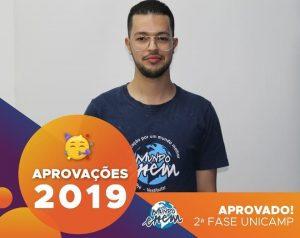 🏆Parabéns🏆 Leonardo aprovado para a 2ª fase da Unicamp.