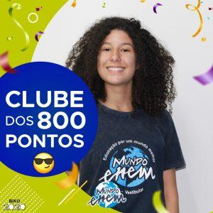 Parabéns Luana, 820 pontos na redação do ENEM📝!