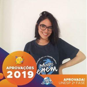 🏆Parabéns🏆 Maria Fernanda aprovada para a 2ª fase da Unesp.