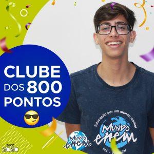 Parabéns Mateus, 880 pontos na redação do ENEM📝!