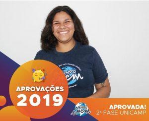 🏆Parabéns🏆 Raissa aprovada para a 2ª fase da Unicamp.