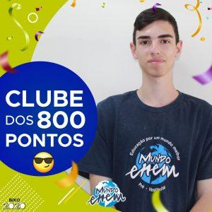Parabéns Vitor, 840 pontos na redação do ENEM📝!