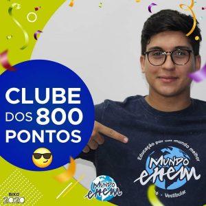 Parabéns Thiago, 920 pontos na redação do ENEM📝!