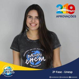Parabéns Ana Beatriz pela aprovação para a 2ª fase da UNESP - Universidade Estadual Paulista