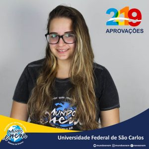 🏆 Parabéns 🏆 Anna Claudia Tocchio pela aprovação em Química na UFSCar - Universidade Federal de São Carlos