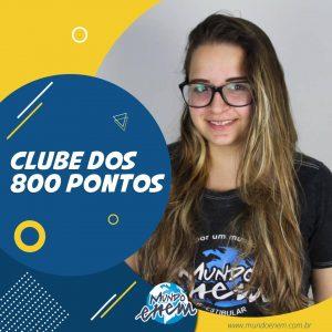 Parabéns Anna, 820 pontos na Redação do ENEM.