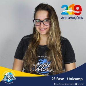 Parabéns Anna pela aprovação para a 2ª fase da Unicamp - Universidade Estadual de Campinas