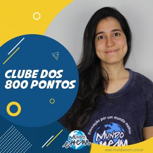 Parabéns Brenda, 940 pontos na Redação do ENEM.