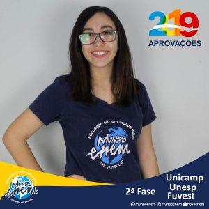 Parabéns Carol pelas aprovações para a 2ª fase da UNESP - Universidade Estadual Paulista - Unicamp - Universidade Estadual de Campinas e USP - Universidade de São Paulo