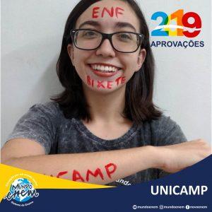🏆 Parabéns 🏆 Carol pela aprovação em Enfermagem na UNICAMP