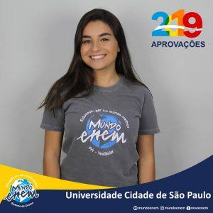 🏆 Parabéns 🏆 Carolina pela aprovação em Medicina na Unicid - Universidade Cidade de São Paulo