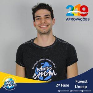 Parabéns Felipe pelas aprovações para a 2ª fase da UNESP - Universidade Estadual Paulista - USP - Universidade de São Paulo