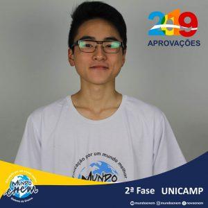 Parabéns Gabriel pela aprovação para a 2ª fase da Unicamp - Universidade Estadual de Campinas