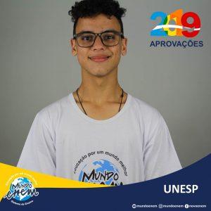 🏆 Parabéns 🏆 Gabriel Eugênio pela aprovação em Química na UNESP - Universidade Estadual Paulista