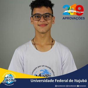 🏆 Parabéns 🏆 Gabriel Eugenio pela aprovação em Química na Unifei - Universidade Federal de Itajubá
