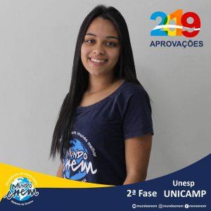 Parabéns Gabriela pelas aprovações para a 2ª fase da UNESP - Universidade Estadual Paulista - Unicamp - Universidade Estadual de Campinas