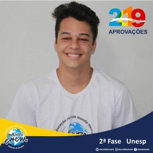 Parabéns Hector pela aprovação para a 2ª fase da UNESP - Universidade Estadual Paulista