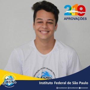 🏆 Parabéns 🏆 Hector Sales pela aprovação em Engenharia Elétrica no Instituto Federal de São Paulo