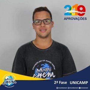 Parabéns Henrique pela aprovação para a 2ª fase da Unicamp - Universidade Estadual de Campinas