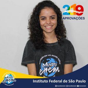 🏆 Parabéns 🏆 Isabela Victoria pela aprovação em Ciências Biológicas no Instituto Federal de São Paulo