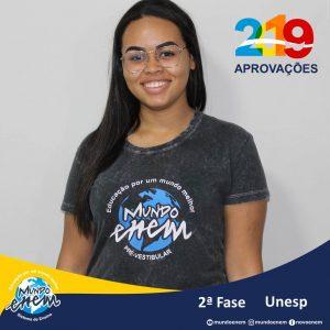 Parabéns Izabela pela aprovação para a 2ª fase da UNESP - Universidade Estadual Paulista