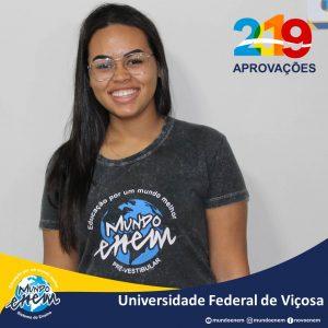 🏆 Parabéns 🏆 Izabela pela aprovação em Ciência e Tecnologia de Alimentos na Universidade Federal de Viçosa - UFV