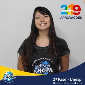 Parabéns Julie pela aprovação para a 2ª fase da UNESP - Universidade Estadual Paulista