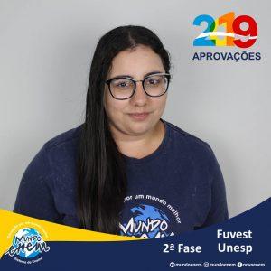 arabéns Larissa Forner pelas aprovações para a 2ª fase da UNESP - Universidade Estadual Paulista e USP - Universidade de São Paulo