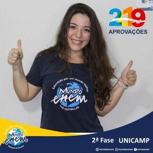 Parabéns Laura Horta Figueiredo pela aprovação para a 2ª fase da Unicamp - Universidade Estadual de Campinas