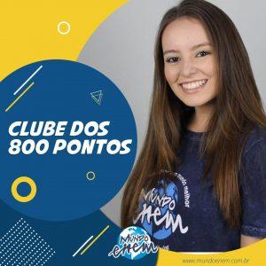 Parabéns Luiza, 800 pontos na Redação do ENEM.