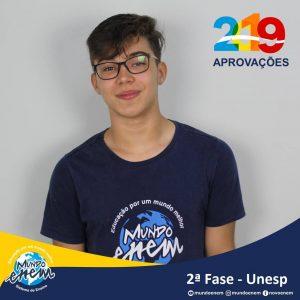 Parabéns Marcos pela aprovação para a 2ª fase da UNESP - Universidade Estadual Paulista