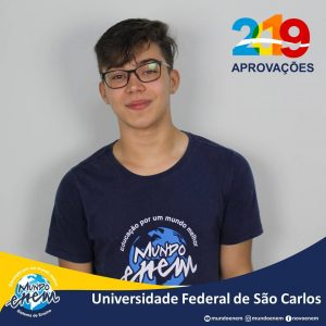 🏆 Parabéns 🏆 Marcos Oliveira pela aprovação em Engenharia Civil na UFSCar - Universidade Federal de São Carlos