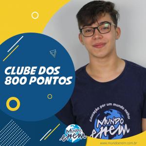 Parabéns Marcos, 840 pontos na Redação do ENEM.