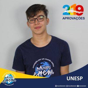 🏆 Parabéns 🏆 Marcos Oliveira pela aprovação em Engenharia Civil na UNESP - Universidade Estadual Paulista