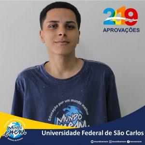 🏆 Parabéns 🏆 Mateus De Camargo Franco pela aprovação em Ciência Econômicas na UFSCar - Universidade Federal de São Carlos