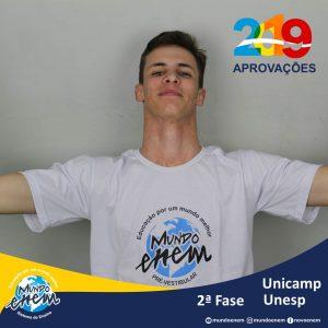 Parabéns Matheo pelas aprovações para a 2ª fase da UNESP - Universidade Estadual Paulista e UNICAMP