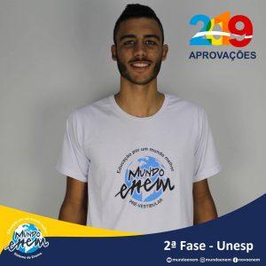 Parabéns Matheus pela aprovação para a 2ª fase da UNESP - Universidade Estadual Paulista