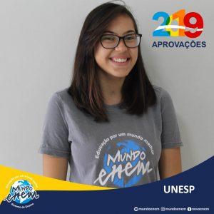 🏆 Parabéns 🏆 Milena Ferraz pela aprovação em Psicologia na UNESP - Universidade Estadual Paulista
